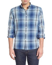Life After Denim | 'ginza' Trim Fit Plaid Woven Shirt | Lyst