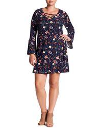 c46b958a1c676 Nordstrom Rack · Derek Heart - Floral Bell Sleeve Dress (plus Size) - Lyst