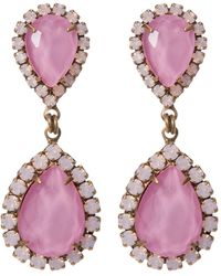 Loren Hope - Abba Pave Marquise Cut Stone Drop Earrings - Lyst