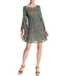 Areve - Floral Lace Angel Sleeve Dress - Lyst