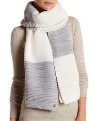 Anne Klein - Two Toned Wool Blend Scarf - Lyst