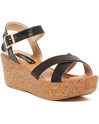 Elegant Footwear - Angela Wedge Sandal - Lyst