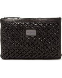 Day & Mood - Ann Braided Oversize Leather Clutch - Lyst