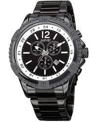 August Steiner - Men's Bold Swiss Quartz Chronograph Stainless Steel Bracelet Watch - Lyst