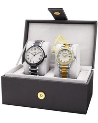August Steiner | His & Hers Two Piece Two-tone Bracelet Watch Set | Lyst