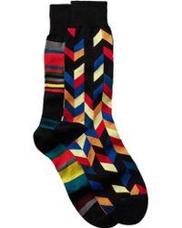 Bugatchi - Printed Socks - Pack Of 2 - Lyst