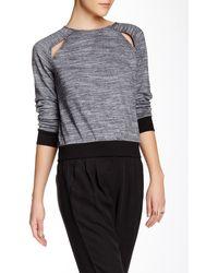 Shades of Grey by Micah Cohen - Raglan Cutout Sweatshirt - Lyst
