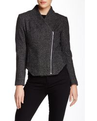 Shades of Grey by Micah Cohen - Moto Wool Blend Jacket - Lyst