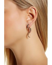 Betsey Johnson - Pave Snake Jacket Earrings - Lyst