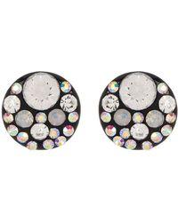 Betsey Johnson - Round Rhinestone Accented Stud Earrings - Lyst