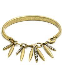 Nicole Miller - Pave Pod Chain Cuff Bracelet - Lyst