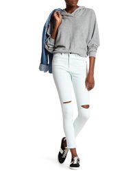 Volcom - Distressed High Waist Ankle Skinny Jean - Lyst