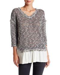 Blu Pepper - 3/4 Length Sleeve Sweater - Lyst
