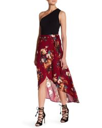 Blu Pepper - Hi-lo Wrap Skirt - Lyst