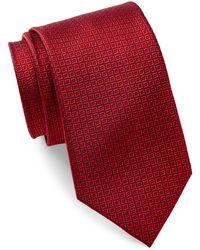 Bristol & Bull - Red & Navy Small Medallion Silk Tie - Lyst