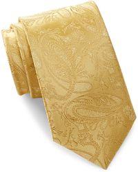 Bristol & Bull - Gold Paisley Silk Tie - Lyst