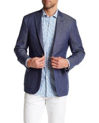 Borgo 28 - Unconstructed Navy Chambray Two Button Notch Lapel Regular Fit Blazer - Lyst
