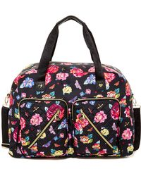 Betsey Johnson   Floral Cargo Weekend Bag   Lyst