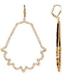 Botkier - Pave Cutout Earrings - Lyst