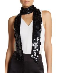 Betsey Johnson - Paillette Sequin Skinny Scarf - Lyst