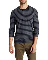 Kenneth Cole - Long Sleeve Jersey Henley Shirt - Lyst