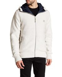 Bench - Knit Zip Hooded Jacket - Lyst