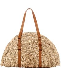 San Diego Hat Company | Woven Seagrass Dome Shoulder Bag | Lyst