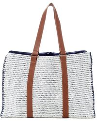 San Diego Hat Company | Melanged Woven Paper Tote | Lyst