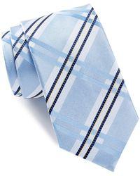 Bugatchi - Plaid Check Silk Tie - Lyst