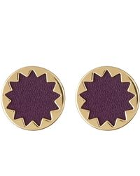 House of Harlow 1960 - Leather Inset Circle Earrings - Lyst
