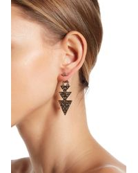 House of Harlow 1960 - Pave Geometric Pave Drop Earrings - Lyst