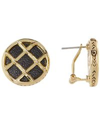 House of Harlow 1960 - Phoebe Caged Button Earrings - Lyst