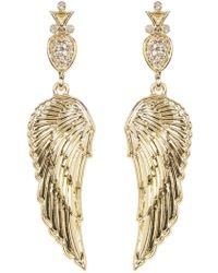 House of Harlow 1960 Embellished Drop Angel Wing Stud Earrings