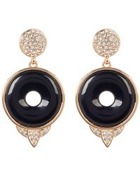 House of Harlow 1960 - Drop Black Onyx Small Earrings - Lyst