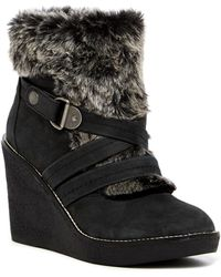 Fergie | Omega Faux Fur Wedge Boot | Lyst