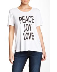 CJ by Cookie Johnson - Peace Joy Love Basic Hi-lo Tee - Lyst