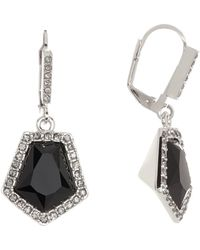 Vince Camuto | Crystal Pave Stone Drop Earrings | Lyst