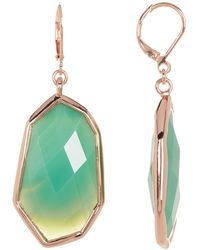 Vince Camuto - Green Stone Lever Back Drop Earrings - Lyst