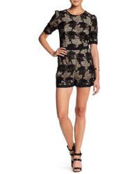 Charlie Jade - Embroidered Lace Romper - Lyst