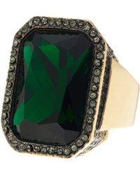 Vince Camuto - Rectangle Stone Drama Ring - Lyst