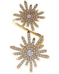 Vince Camuto - Pave Starburst Crossover Ring - Size 8 - Lyst