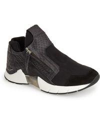 CA by Cinzia Araia - Snake Embossed Leather & Suede Sneaker - Lyst