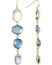 Catherine Malandrino - Multi Stone Drop Earrings - Lyst
