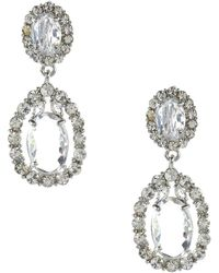 Adia Kibur Crystal Teardrop Earrings