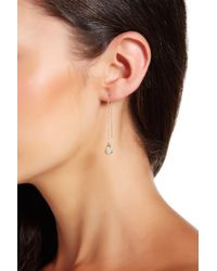 Cole Haan - 12k Gold Plated Stone Drop Threaded Earrings - Lyst