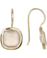 Cole Haan - Semi-precious Square Stone Drop Earrings - Lyst