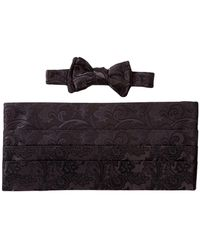 David Donahue - Silk Cummberbund & Self-tie Bow Set - Lyst