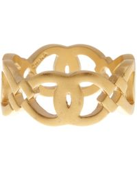 Cole Haan - 12k Gold Plated Logo Ring - Size 7 - Lyst