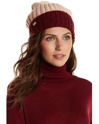 Cole Haan - Colorblock Pompom Shaker Beanie - Lyst