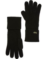 d31c30a892c Cole Haan - Diagonal Ribbed Wool Gloves - Lyst